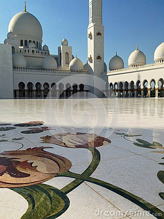 Sheikh Zayed Mosque in Abu Dhabi Editorial Stock Image