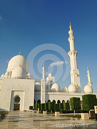 Sheikh Zayed Mosque in Abu Dhabi Editorial Image