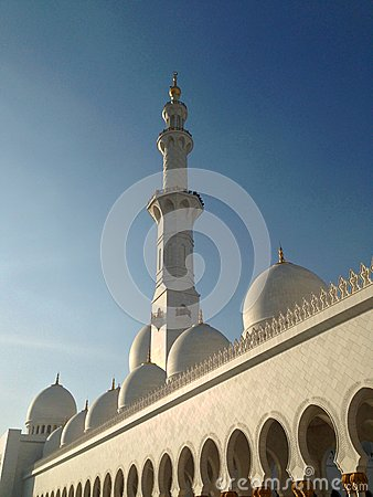 Sheikh Zayed Mosque in Abu Dhabi Editorial Stock Photo