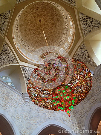 Sheikh Zayed Mosque in Abu Dhabi Editorial Photography