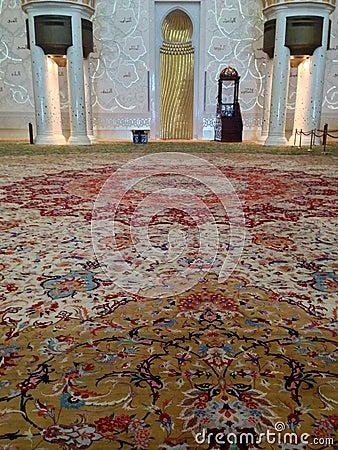 Sheikh Zayed Mosque in Abu Dhabi Editorial Image