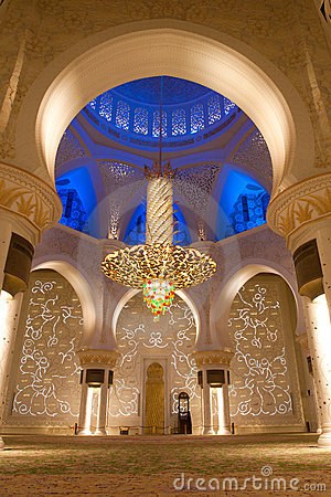 Sheikh zayed mosque in Abu Dhabi, UAE - Interior