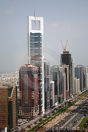 Sheikh Zayed Road Dubai UAE Editorial Image