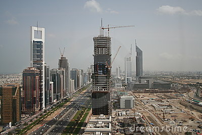 Sheikh Zayed Road Dubai UAE Editorial Photo