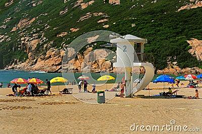 Shek o beach, hong kong Editorial Photography