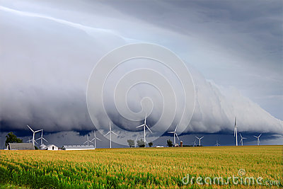 Shelf cloud in Illinois
