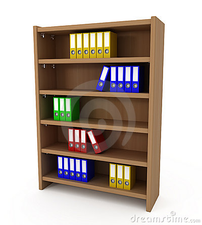 Shelf With Files Folders