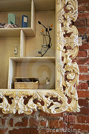 Shelf with an ornament
