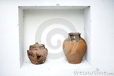 Shelf pottery