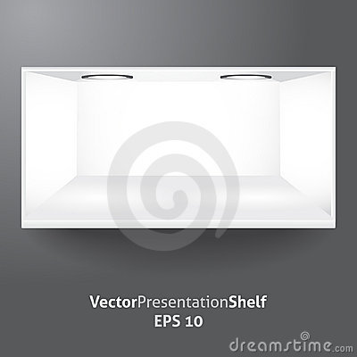 Shelf for product presentation with light 2