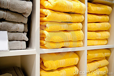Shelf with a towels