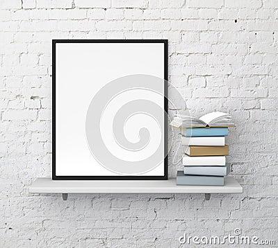 Free Shelf With Frame Royalty Free Stock Image - 35068776
