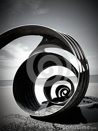 The Shell on Cleveleys beach