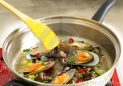 Shell fish dish