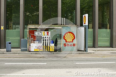 Shell gas station  Editorial Stock Image