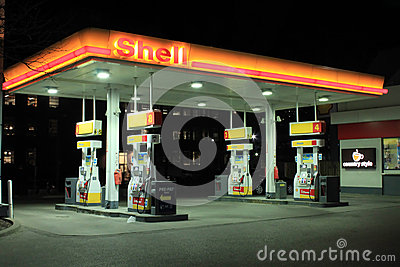 Shell Gas Station Editorial Photography