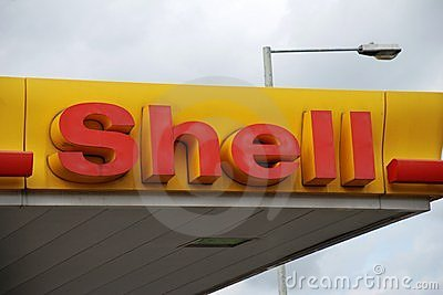 Shell petrol filling station Editorial Stock Image