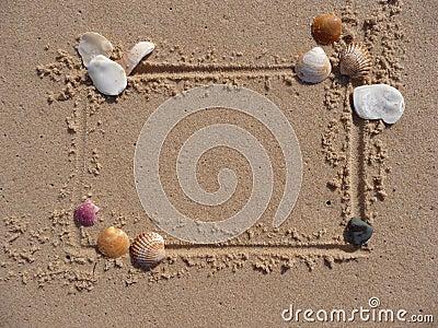 Shell and sand frame border