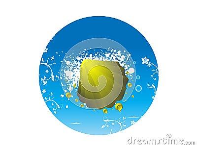 Shell sea shell on blue backdrop