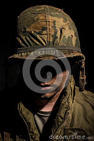 Free Shell Shocked US Marine - Vietnam War Stock Images - 97999914