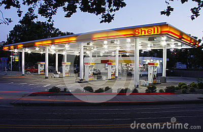 Shell Station Editorial Stock Photo