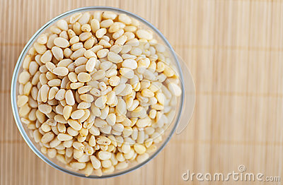 Shelled pine nuts