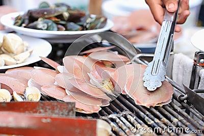 Shellfish grilled