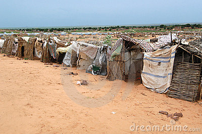 Shelters in Darfur Editorial Stock Photo