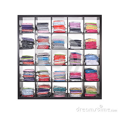 Shelves With Clothes Stock Images Image 26307954
