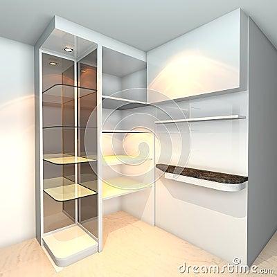 Shelves designs white