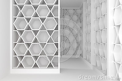 Shelves room