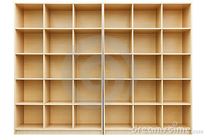 Shelves, Small Wooden Box With Cells Royalty Free Stock Photography ...