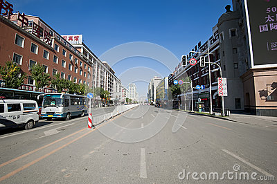 Shenyang street Editorial Stock Image