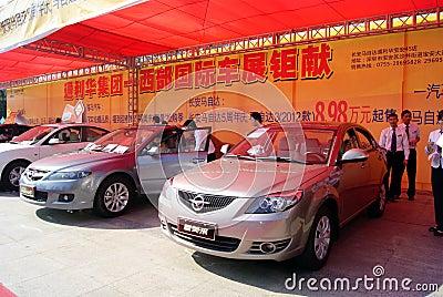 Shenzhen china: automobile exhibition sales Editorial Stock Photo