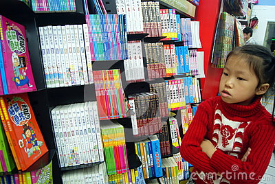 Shenzhen, china: bookstore to buy books Editorial Stock Photo