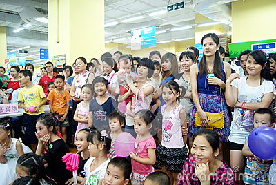 Shenzhen china: children s day activity Editorial Stock Photo