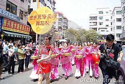 Shenzhen china: dance performance Editorial Image
