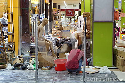 Construction clothing store