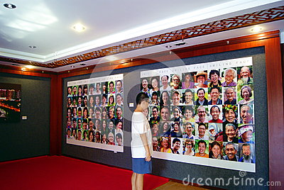 Shenzhen china: documentary photography exhibition Editorial Stock Image