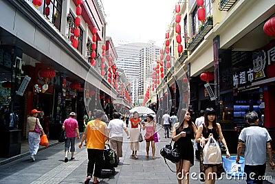 Shenzhen china: men old street Editorial Stock Photo