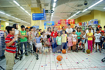 Shenzhen china: family fun games Editorial Photography