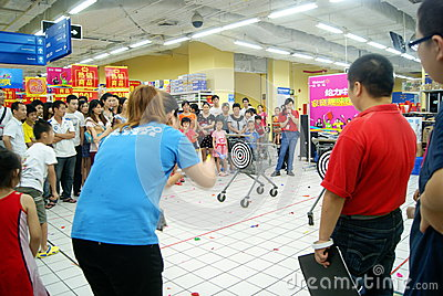 Shenzhen china: family fun games Editorial Stock Image