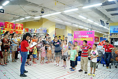 Shenzhen china: family fun games Editorial Image