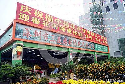 Shenzhen china: flower market Editorial Photography