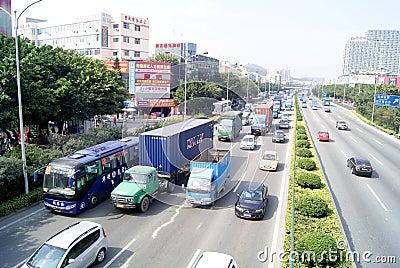 Shenzhen china: highway landscape Editorial Stock Image