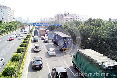 Shenzhen china: highway landscape Editorial Stock Photo