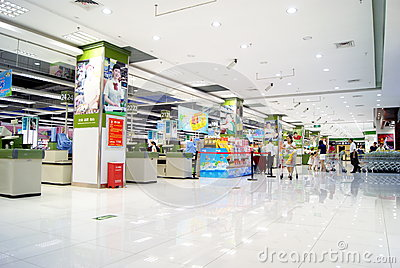 Shenzhen china: hua run wan jia shopping malls Editorial Photography
