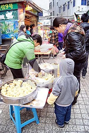 Shenzhen china: local snacks Editorial Photo