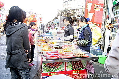 Shenzhen china: local snacks Editorial Photo