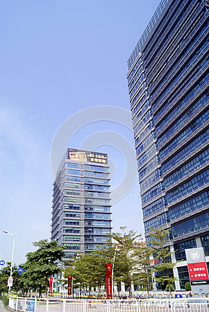 Shenzhen, china: office commercial building Editorial Photo